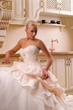 Young bride in the kitchen Royalty Free Stock Photography