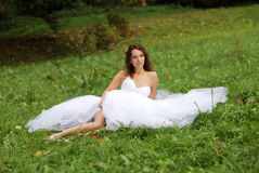 Young bride lying Stock Photography