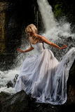 Young Bride On A River Royalty Free Stock Photo