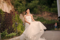 Young bride outside Stock Photo