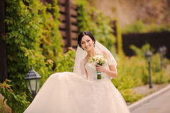 Young bride outside Stock Image
