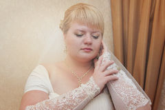 Young bride posing Royalty Free Stock Photo