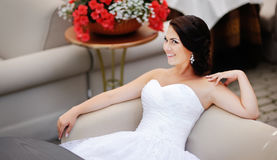 Young bride relaxing Stock Photo