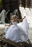 Young Bride On A River Royalty Free Stock Image