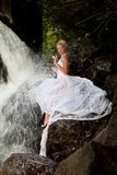 Young Bride On A River Royalty Free Stock Photos