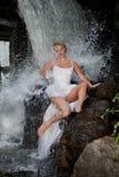 Young Bride On A River Stock Photos