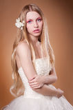Young bride in studio Stock Photography