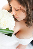 Young bride with wedding bouquet Stock Image