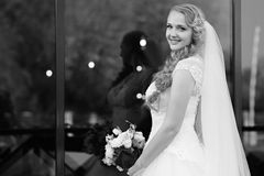 Young bride at the wedding day Stock Image