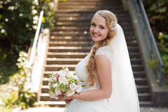 Young bride at the wedding day Royalty Free Stock Image
