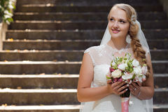 Young bride at the wedding day Stock Photography