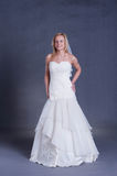 Young bride in wedding dress Royalty Free Stock Photos