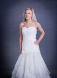 Young bride in wedding dress Royalty Free Stock Photography