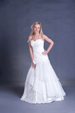 Young bride in wedding dress Royalty Free Stock Photo