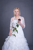 Young bride in wedding dress Stock Image