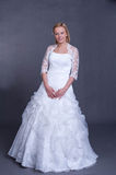 Young bride in wedding dress Royalty Free Stock Images