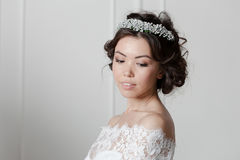 Young bride in wedding dress Stock Photography