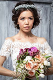 Young bride in wedding dress Royalty Free Stock Image