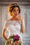 Young bride in wedding dress Stock Photo