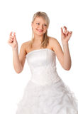 Young bride with wedding ring Stock Photography