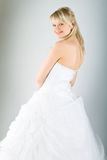 Young bride in white dress Royalty Free Stock Photography
