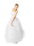 Young bride in white dress Stock Photography