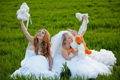 Young brides stock images