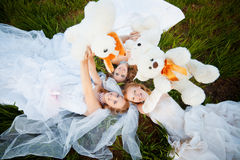 Young brides Stock Photo