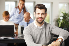 Young broker portrait Royalty Free Stock Images