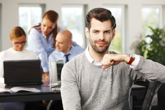 Young broker portrait Stock Images