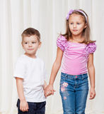 Young brother and sister Stock Photography
