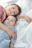 Young brother and sister portrait Royalty Free Stock Photo
