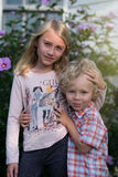 Young brother and sister Royalty Free Stock Images