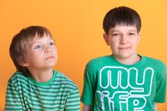 Young brothers Stock Photography