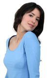 Young brown-haired woman Stock Photo