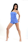 Young brunete model. Young brunet model posing in studio Royalty Free Stock Image