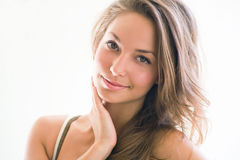 Young brunette beauty. Stock Photos