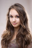 Young brunette beauty Stock Photography