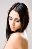 Young brunette beauty. Royalty Free Stock Photo