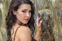 Young Brunette Bikini Model Stock Photography