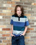 Young brunette boy Royalty Free Stock Photos