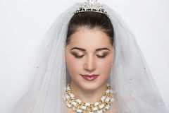 Young brunette bride Royalty Free Stock Image