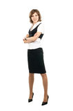 A young brunette businesswoman in formal clothes Royalty Free Stock Images