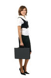 A young brunette businesswoman in formal clothes Royalty Free Stock Photo