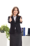 A young brunette businesswoman in formal clothes Stock Photography