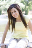 Young Brunette in Casual Pose Stock Photo