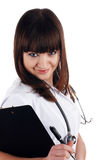 The young brunette the charming staff nurse Royalty Free Stock Photo