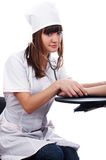The young brunette the charming staff nurse Royalty Free Stock Photography