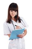 The young brunette the charming staff nurse Stock Images