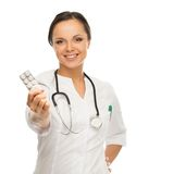Young brunette doctor woman Stock Image